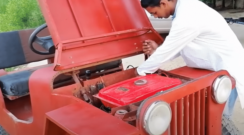 Matric Student from Khanewal Makes a Car From an Old Motorcycle