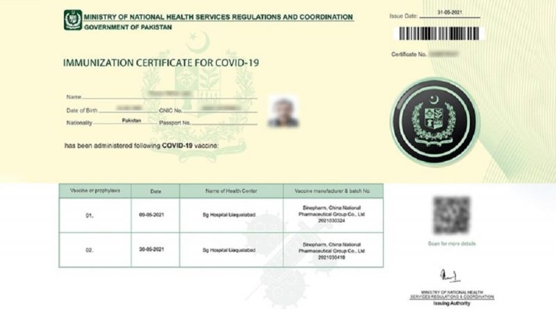 Sindh Requests to Make Vaccination Certificates Mandatory for Using Banking Services